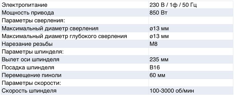 Характеристики станка DX13V
