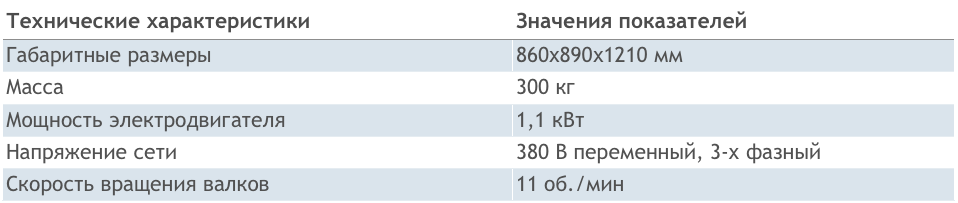 Технические характеристики СХК-6