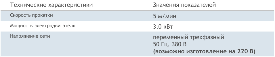 Технические характеристики СХК-8