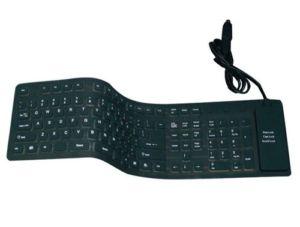 Клавиатура гибкая водо-пыле-стружко-защитная