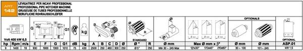 Характеристики Aceti Macchine ART.142
