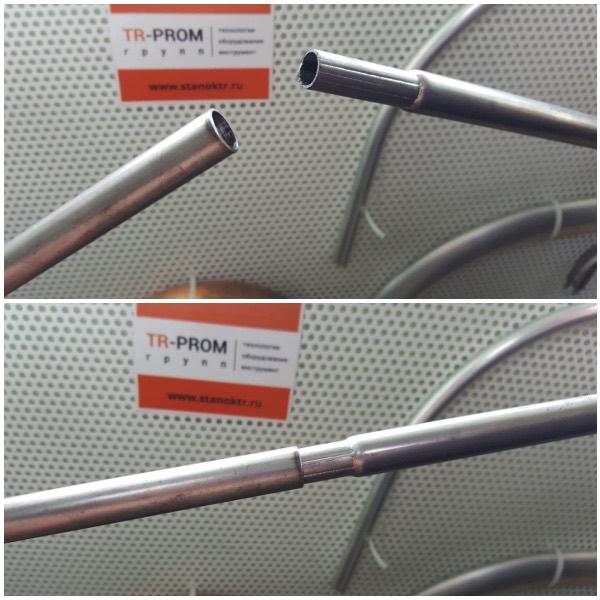 Пример редуцирования тонкой трубки на станке СР 100