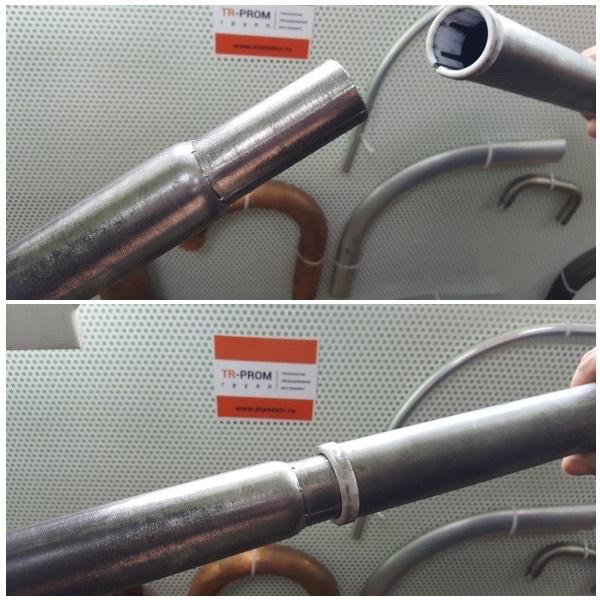 Пример редуцирования толстой трубы на станке СР 100