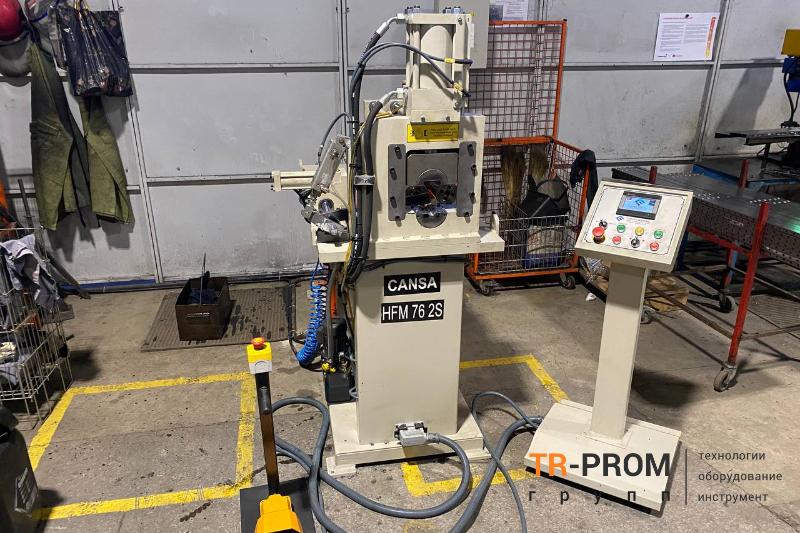 Изготовление торгового и складского оборудования. Поставка станка для формовки трубы Cansa Makina HFM 76 2S